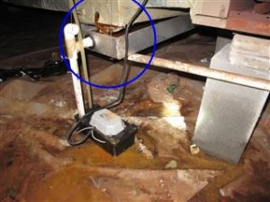 The Air Handler S Primary Condensate Drain Line Was