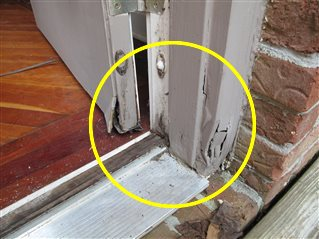 Fungal rot was found at one or more exterior doors, door jambs.