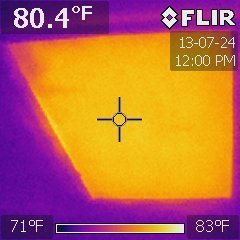 One or more attic access hatches or doors were not insulated.