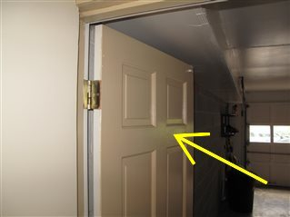 The garage entry door is not fire resistant.