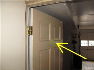 The Garage Entry Door Is Not Fire Resistant Inspect More